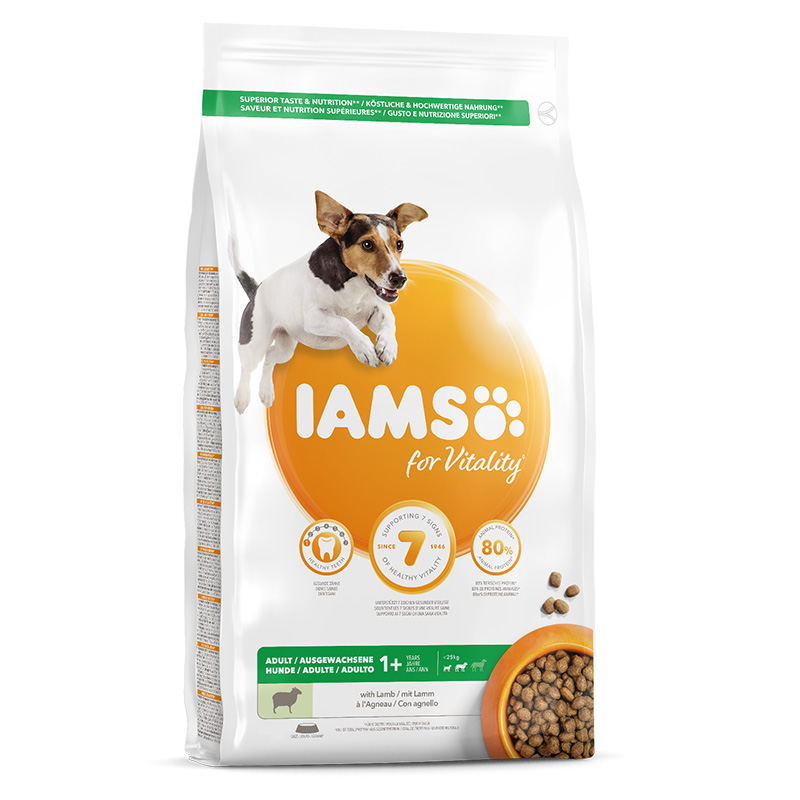 Iams for Vitality Adult Small & Medium Breed with Lamb