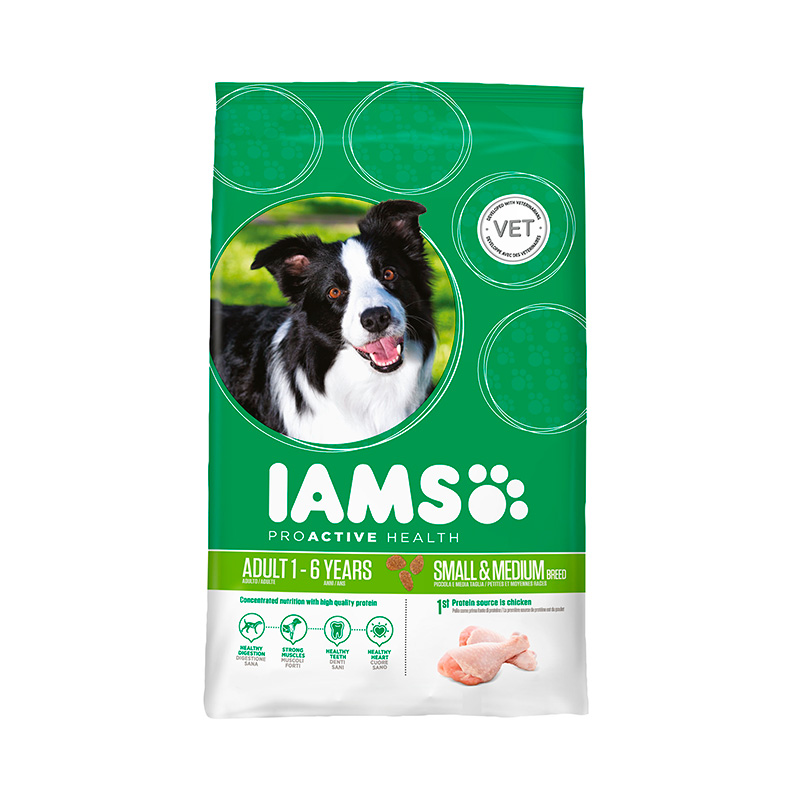 Iams Adult Small & Medium Rico en Pollo ProActive
