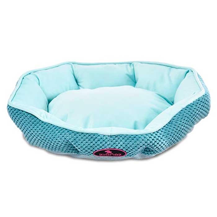 Ibañez Blue Corduroy Bed