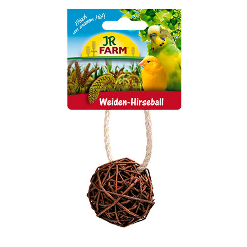Jr Farm Bird Wicker Ball with Millet