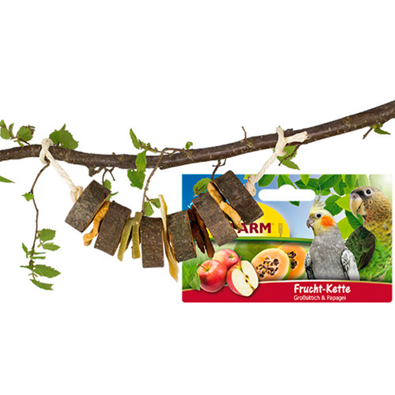 Jr Farm Bird Wooden String with Fruits