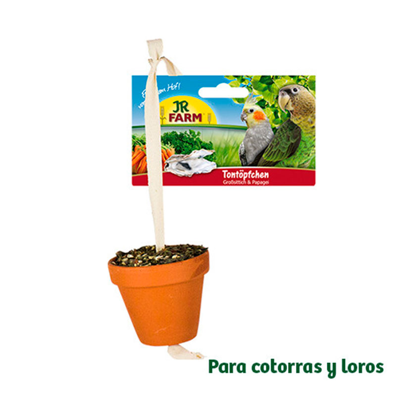 Jr Farm Bird Maceta Cotorras y Loros