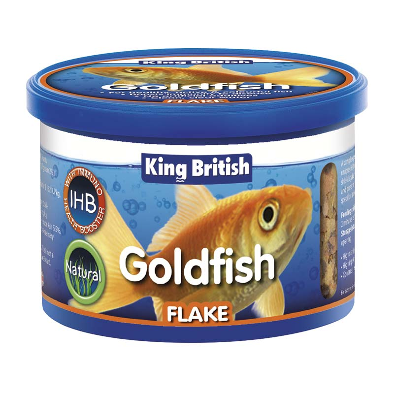 King British Natural Goldfish Flakes
