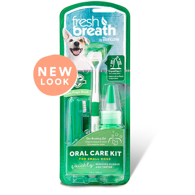 Tropiclean fresh breath oral care kit small breed
