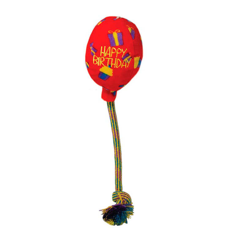 Kong Occasions Birthday Balloon Red Medium Dog Toy