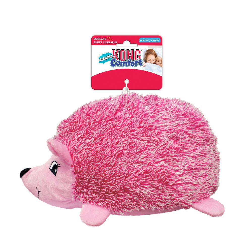 Kong Dog Toy Comfort Hedgehud Pink for Puppy