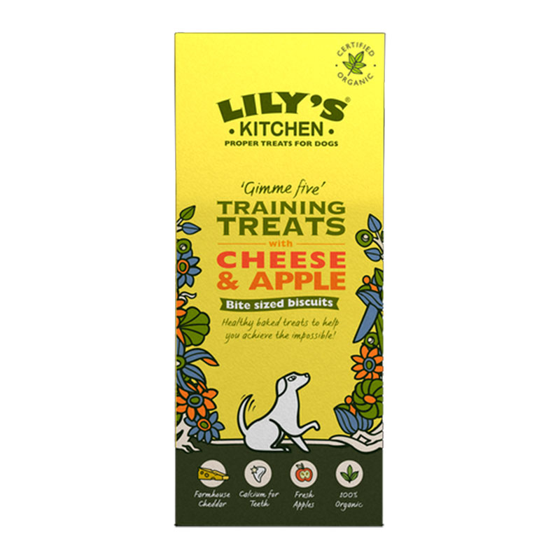 Lily's Kitchen Dog Organic Training Treats Cheese & Apple