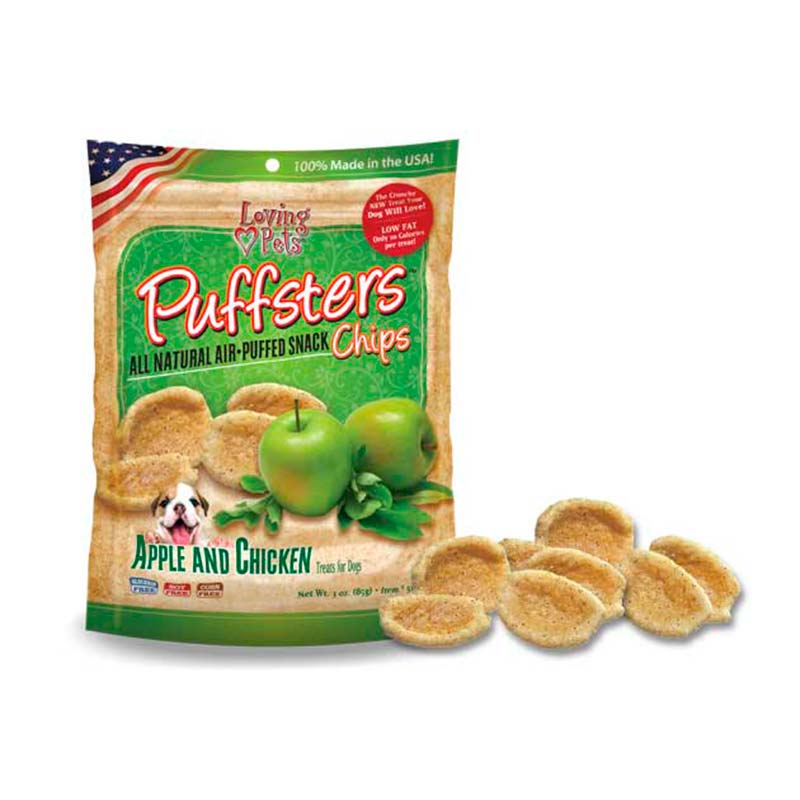 Loving Pets Puffsters Chips Manzana y Pollo