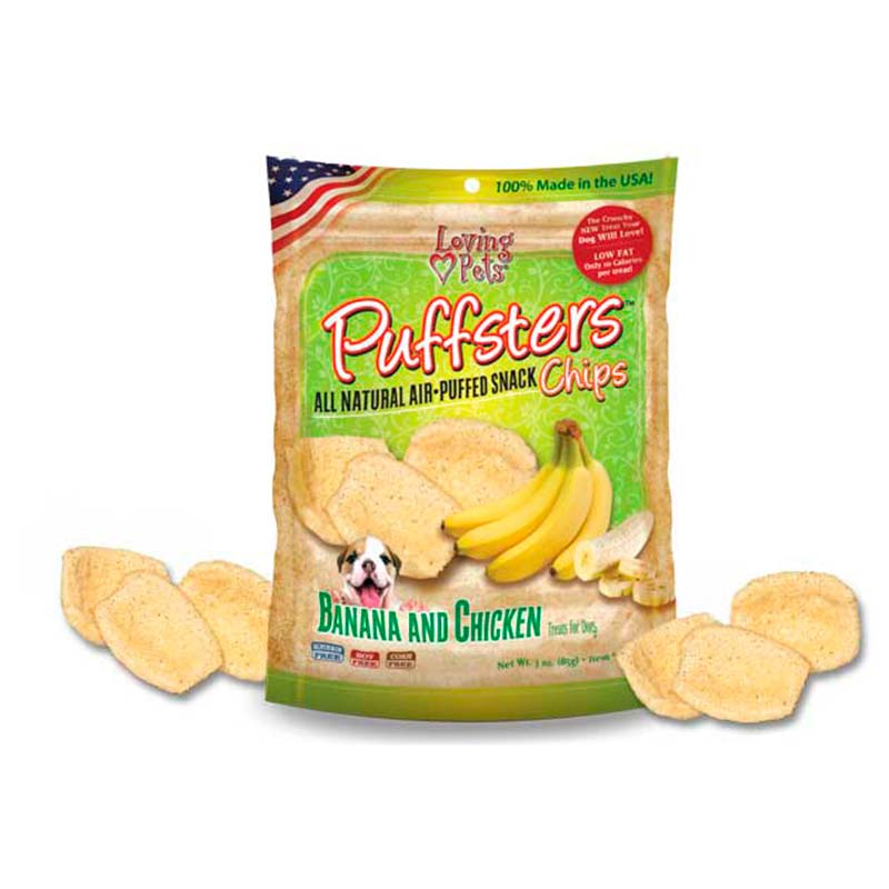 Loving Pets Puffsters Chips Banana y Pollo