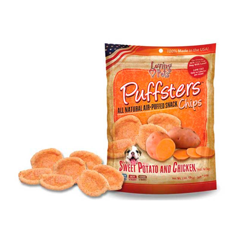Loving Pets Puffsters Chips Batata y Pollo