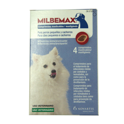 Internal Antiparasitic Chewable Milbemax Small Dog 0.5-5Kg