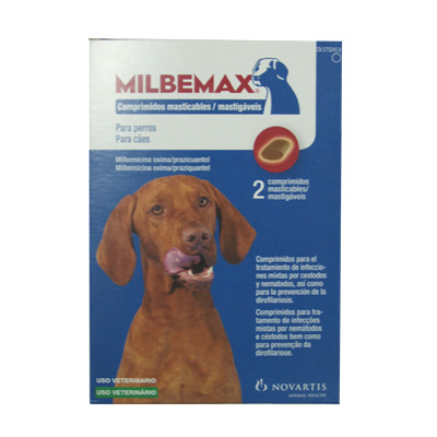 Internal Antiparasitic  Chewable Milbemax Large Dog  5-25Kg