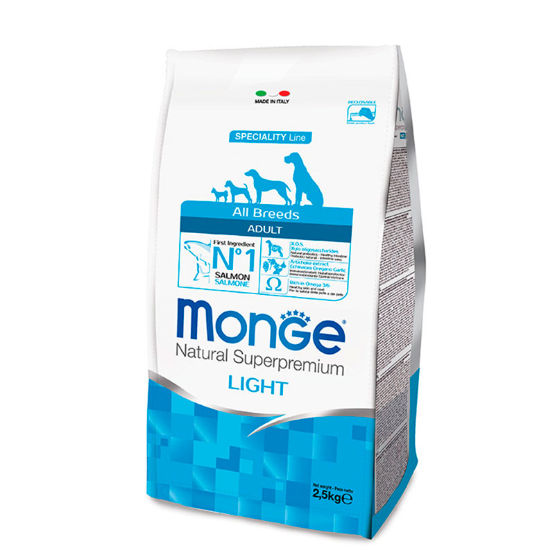 Monge All Breeds Adulto Light Salmón y Arroz