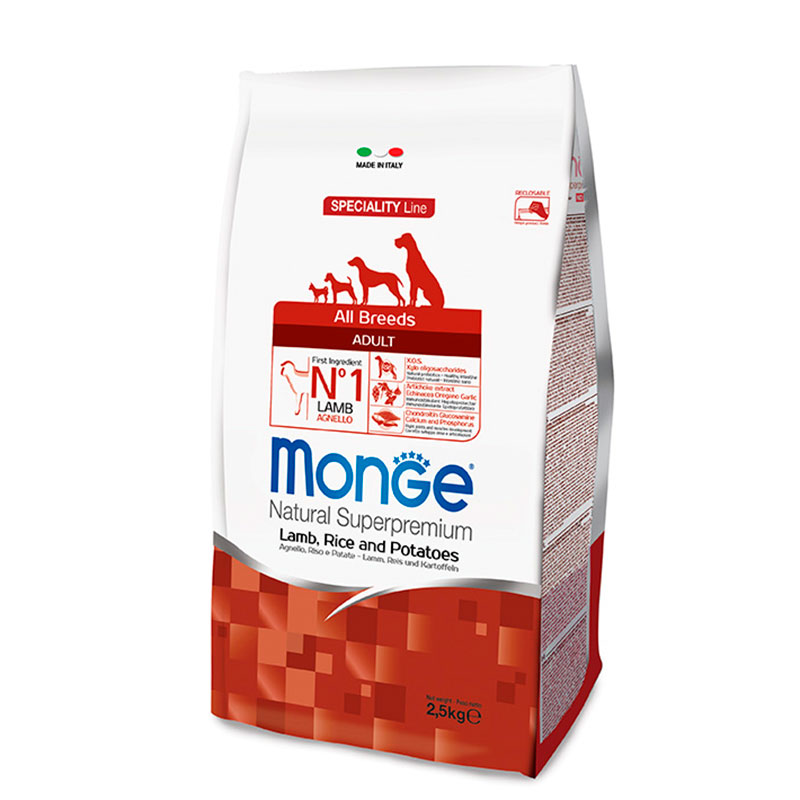 Monge All Breeds Adult Lamb, Rice and Potatoes