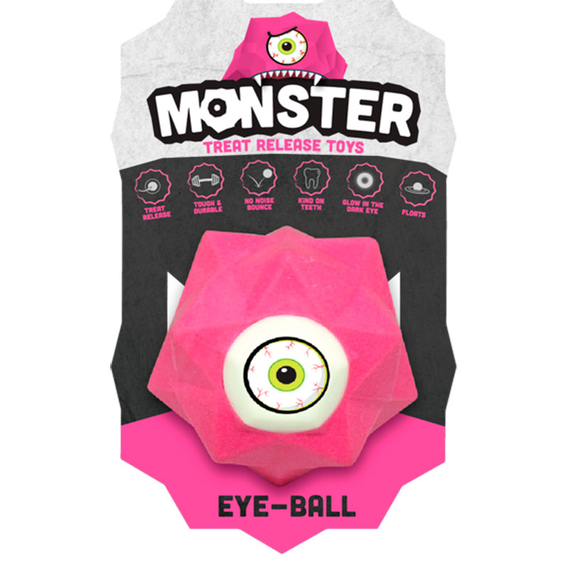 Monster eye ball large dog toy