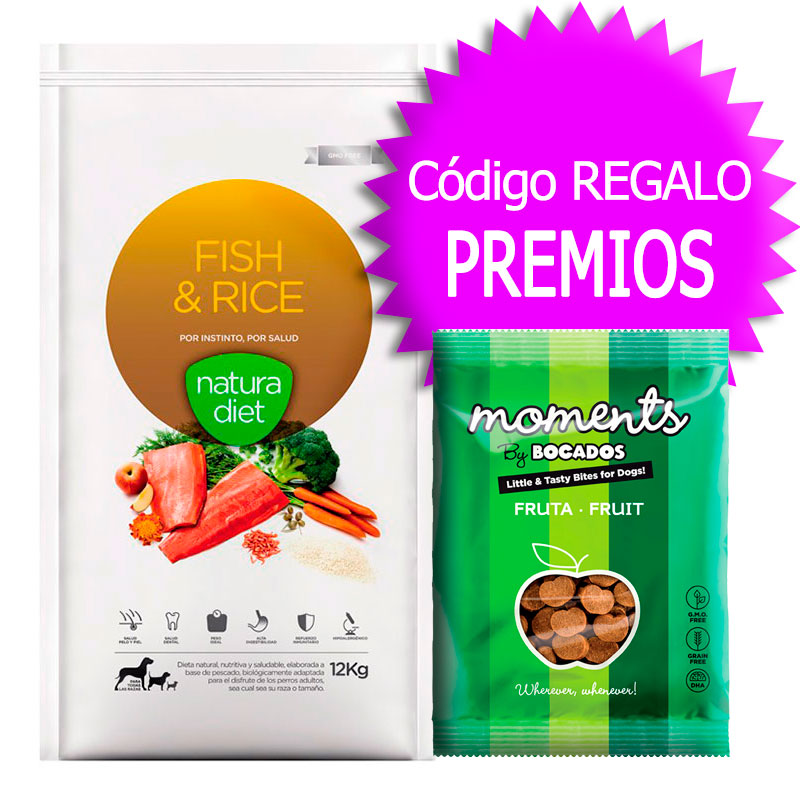 Natura Diet Fish & Rice 12Kg+Coupon