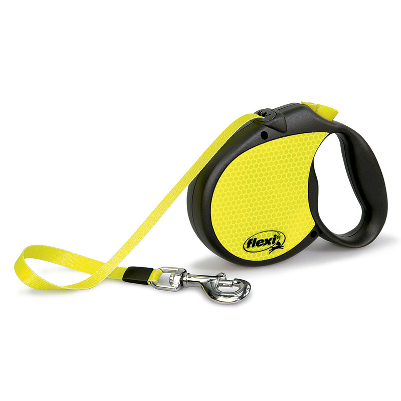 Retractable Leash flexi Neon Reflect Compact