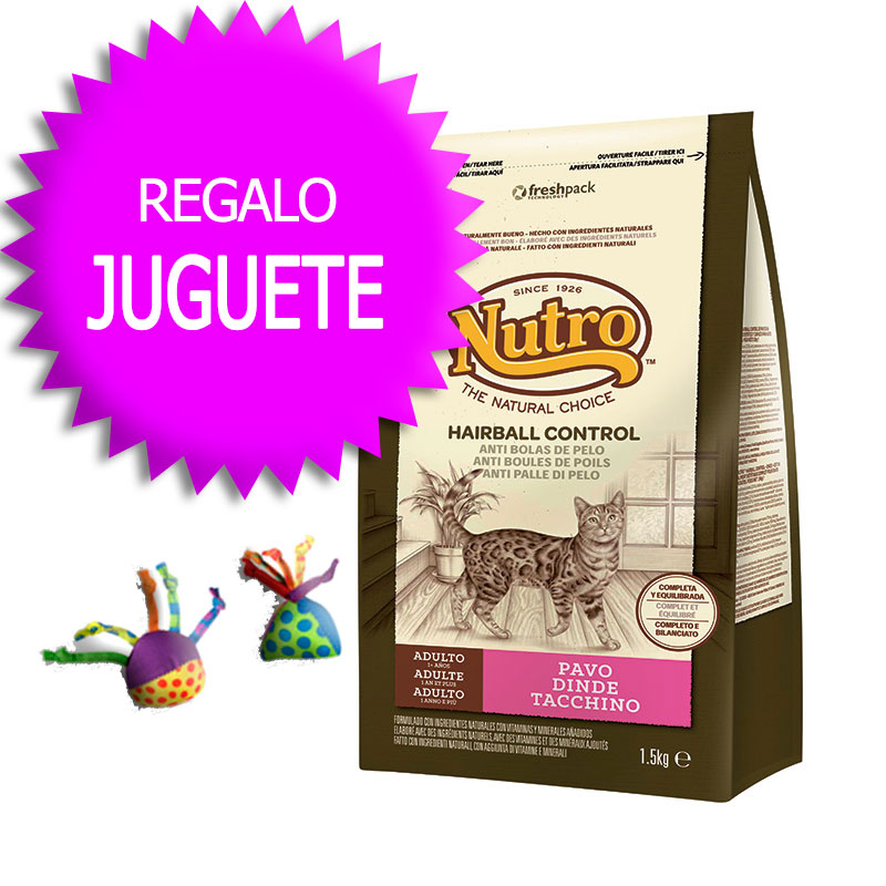 Nutro Choice Adult Cat HairBall with Turkey+Petstages