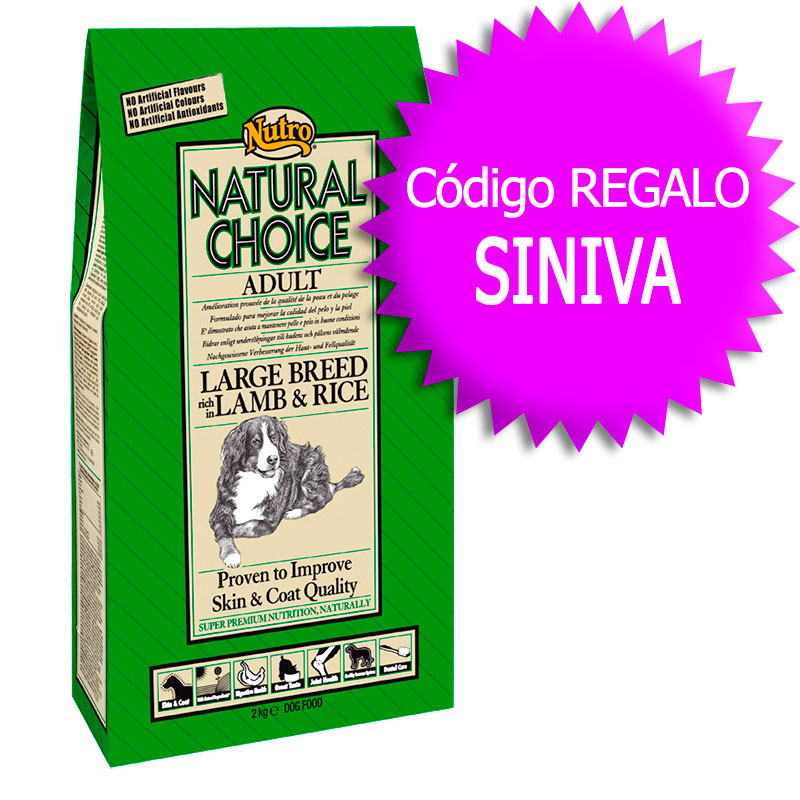 Nutro Choice Adult Large Breed with Lamb & Rice 12Kg+Coupon