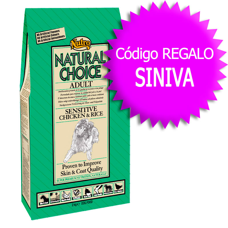 Nutro Choice Adult Sensitive with Chicken & Rice 12Kg+Coupon