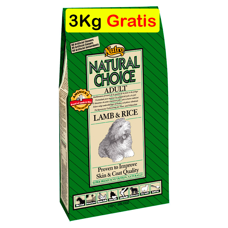 Nutro Choice Adult with Lamb & Rice 12Kg+3Kg Free