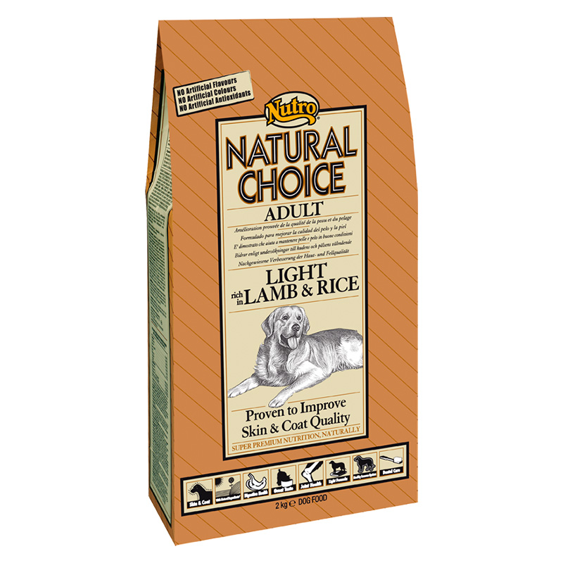 Nutro Choice Adult Light with Lamb & Rice 10Kg