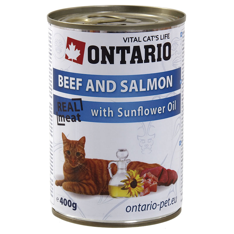 Ontario Feline Beef & Salmon with Sunflower Oil