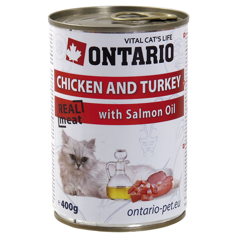 Ontario Feline Chicken & Turkey with Salmon Oil