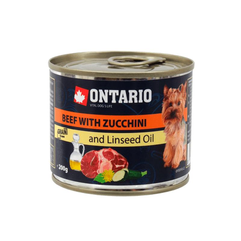 Ontario Mini Beef Zuchini Linseed Oil
