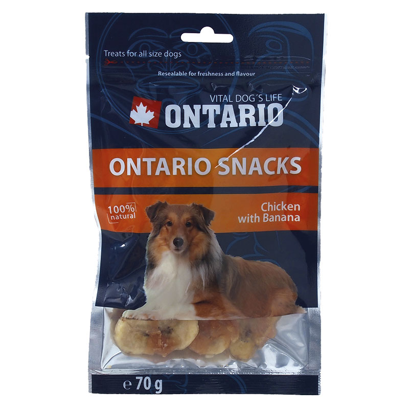 Ontario Dog Snack Chicken with Banana 70g