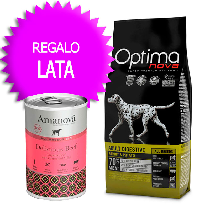 Optima Nova Grain Free Adult All Breeds Digestive Rabbit