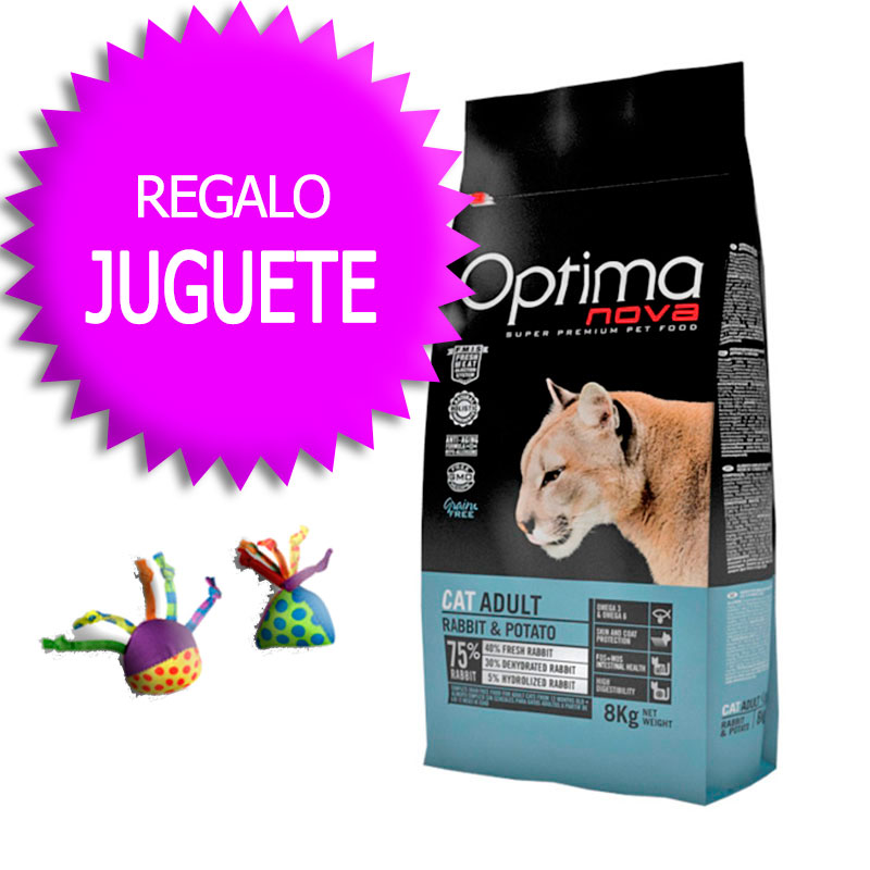 Optima Nova Grain Free Gato Adult Rabbit & Potato