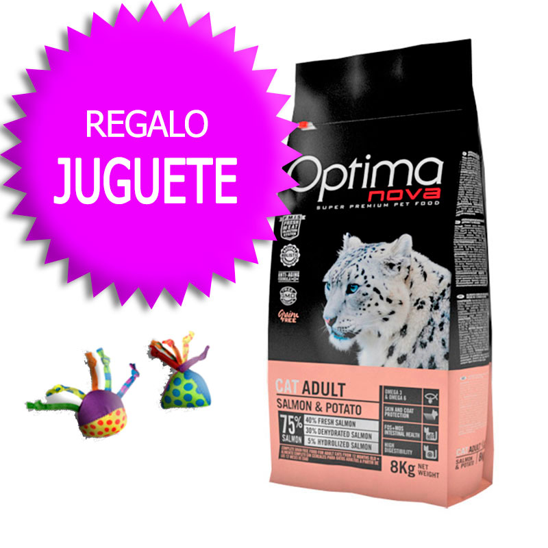 Optima Nova Grain Free Gato Adult Salmon & Potato