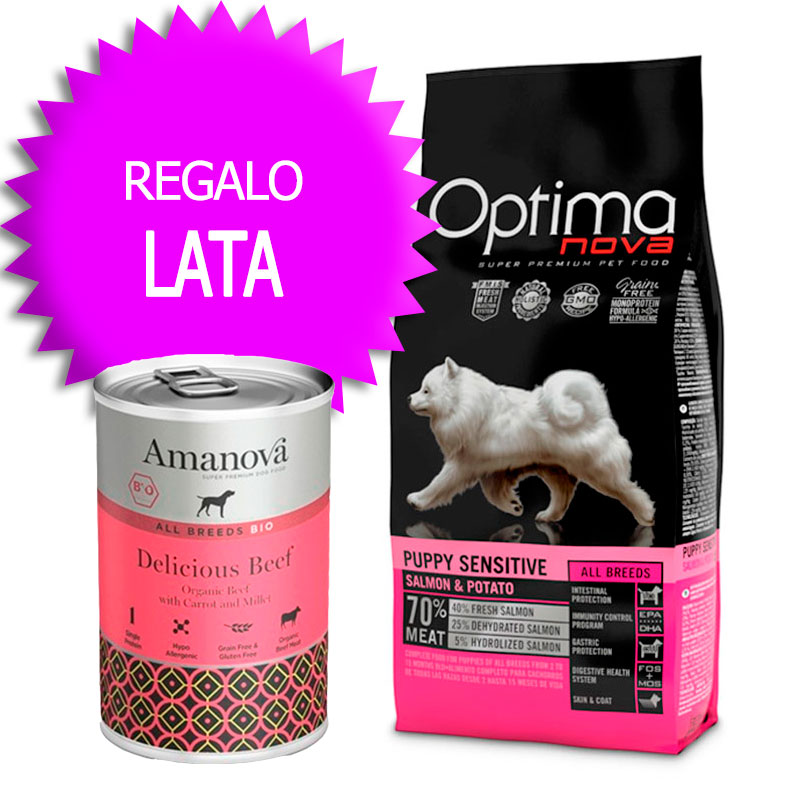Optima Nova Grain Free Puppy All Breeds Sensitive Salmon