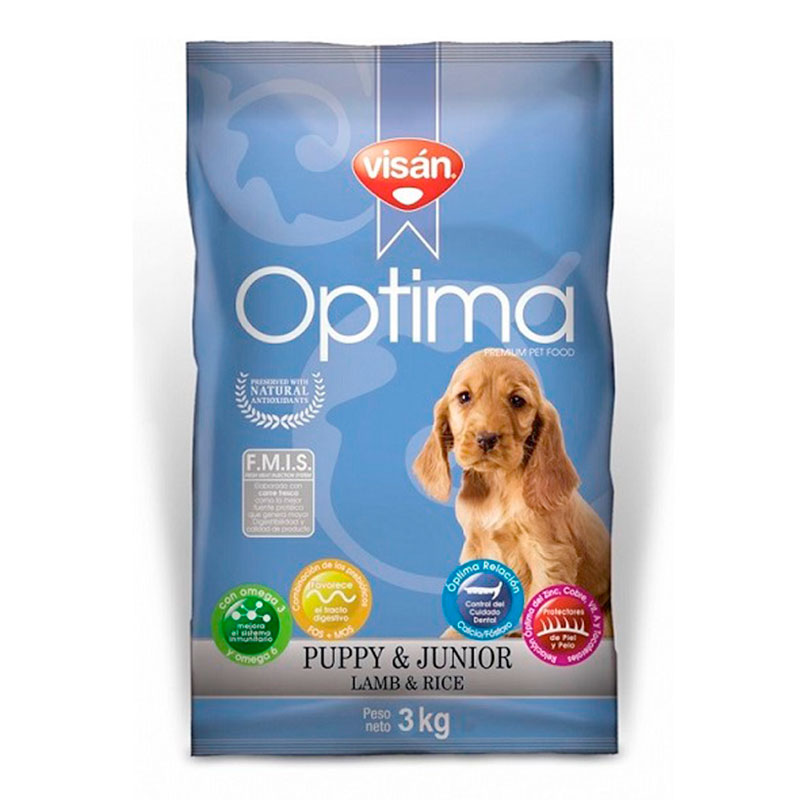 Visan Optima Puppy & Junior Lamb & Rice