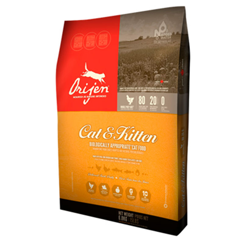 Orijen Cat & Kitten feed for cats kittens and ferrets