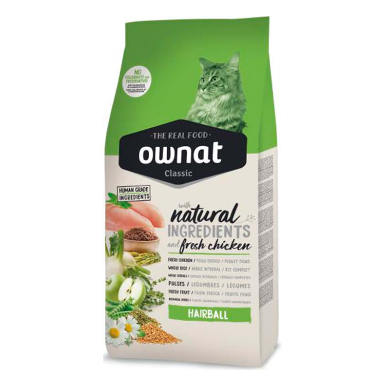 Ownat Cat Food Classic Hairball