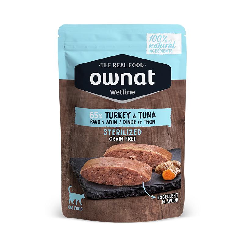 Ownat Wetline Sterilized Turkey & Tuna Cat