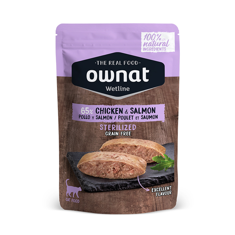 Ownat Wetline Sterilized Chicken & Salmon Cat