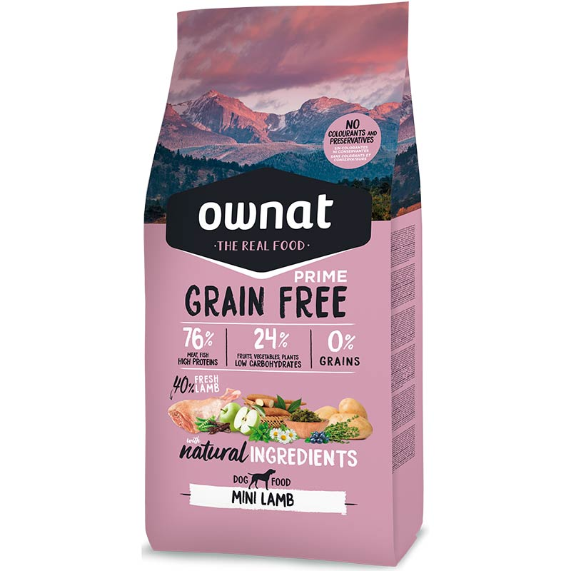 Cotecnica Ownat Prime Grain Free Mini Adult Dog Lamb