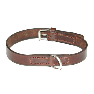Collar Art Piel Liso Marron