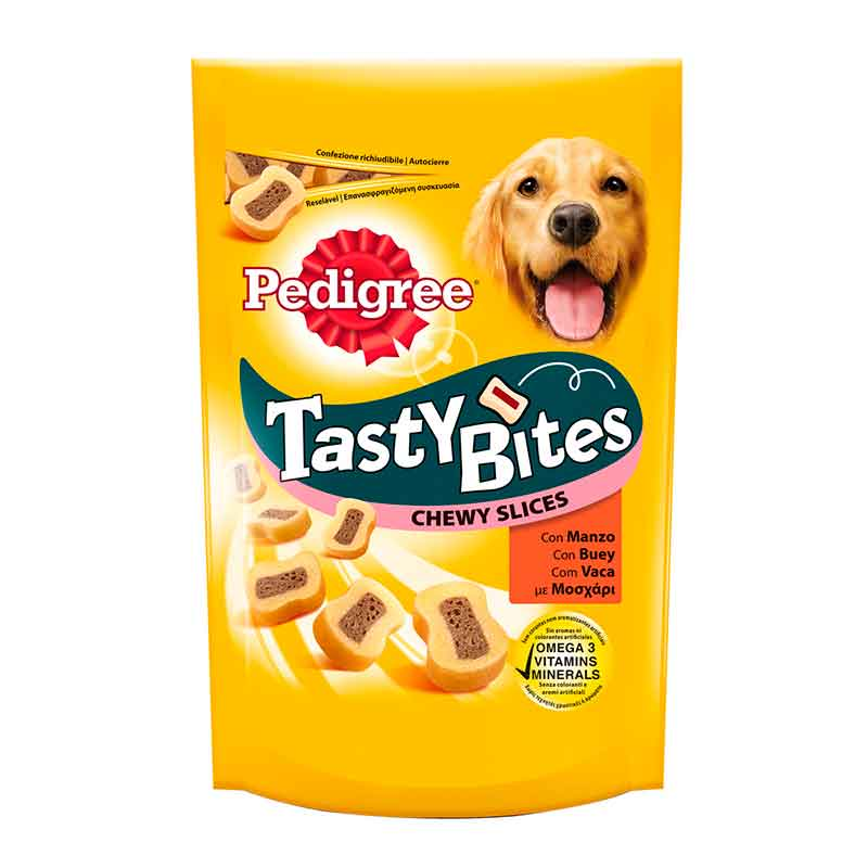 Pedigree Snacks Tasty Bites Chewy Slices 93gr