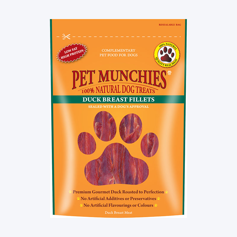 Pet Munchies Filetes de Pechuga de Pato 100gr