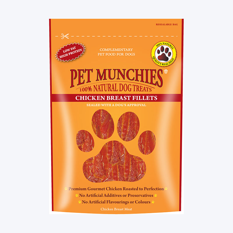 Pet Munchies Filetes de Pechuga de Pollo 100gr