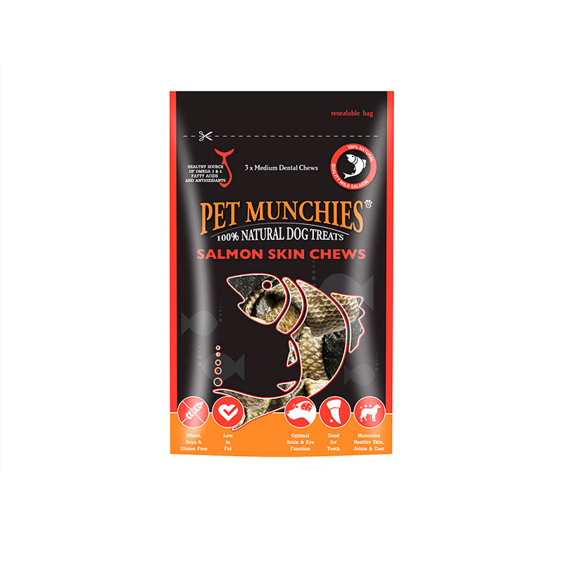 Pet Munchies Salmon Skin Chews 90gr