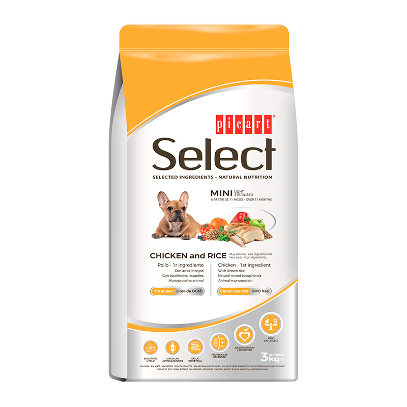 Picart Select  Mini Adult Light-Sterilised Chicken & Rice