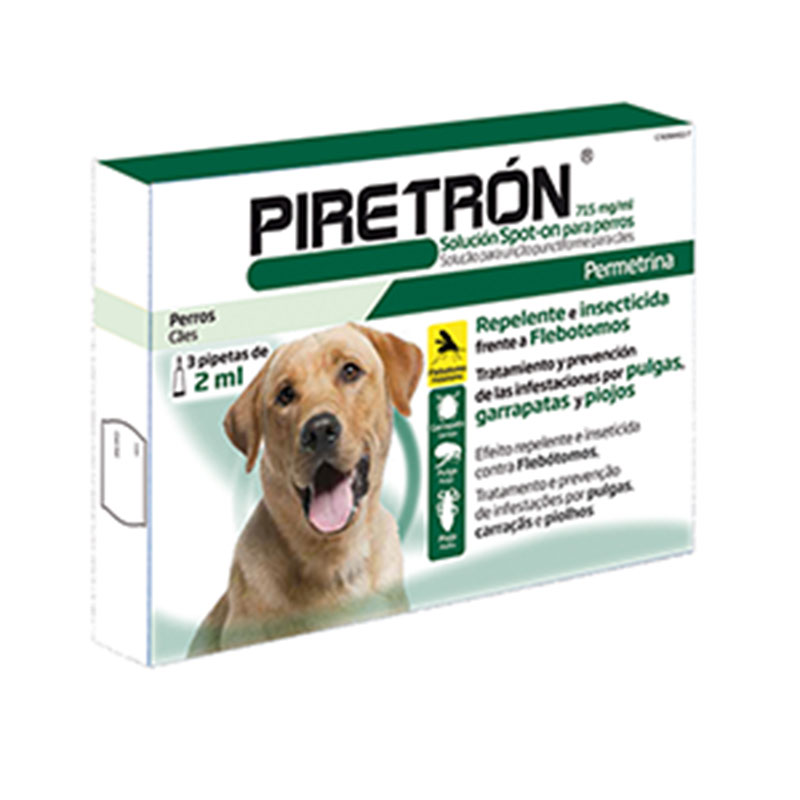 Piretron Pipettes for Medium & Large Dogs 2ml