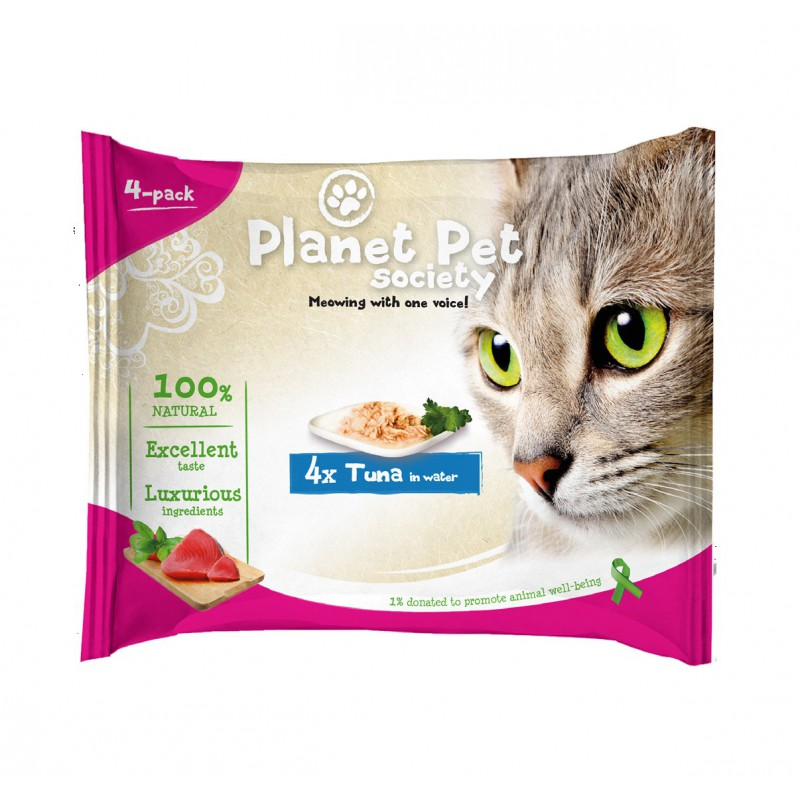 Planet Pet Cat Pouch Pack Tuna 4x50gr
