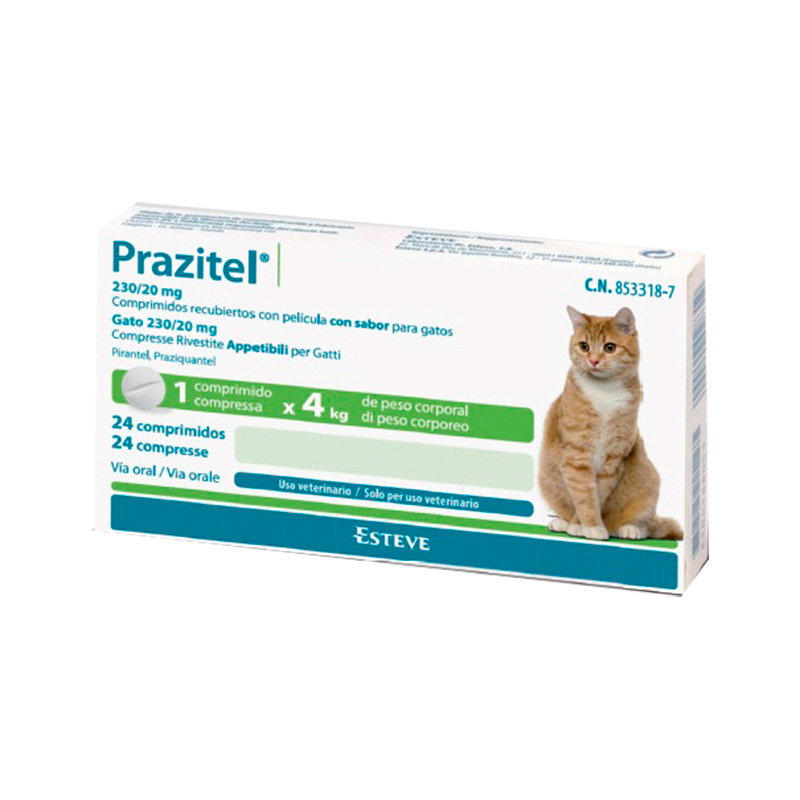 Internal Antiparasitic Prazitel for Cats