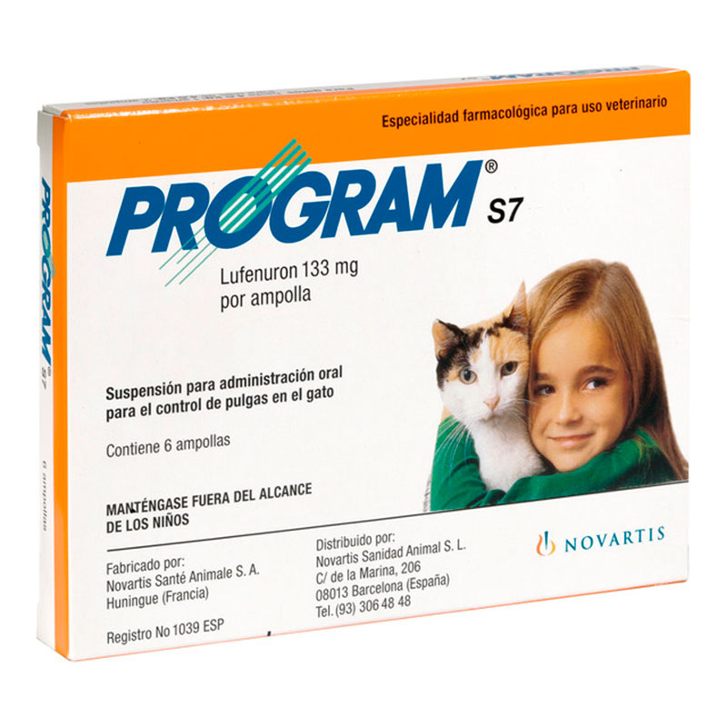 Program S7 Ampollas Bebibles Antipulgas para Gatos Elanco